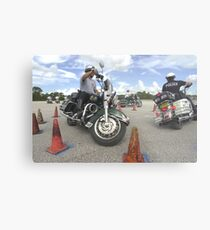 Motorcycle drill Metal Print