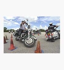 Motorcycle drill Photographic Print