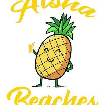 Pineapple Sunglasses Aloha Beaches Hawaii - Hawaiian T-shirt by RioShirt