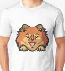 Pomeranian Peeking Dog Unisex T-Shirt
