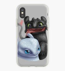 Toothless and His Fair Lady (Light Fury) iPhone Case