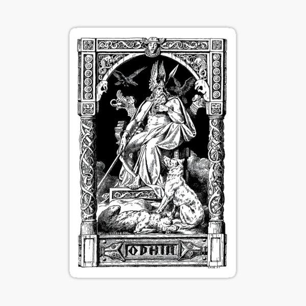 Odin, Johannes Gehrts 1901 Sticker
