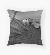 Night of the fishing dead Throw Pillow