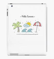 Hello Summer iPad-Hülle & Klebefolie