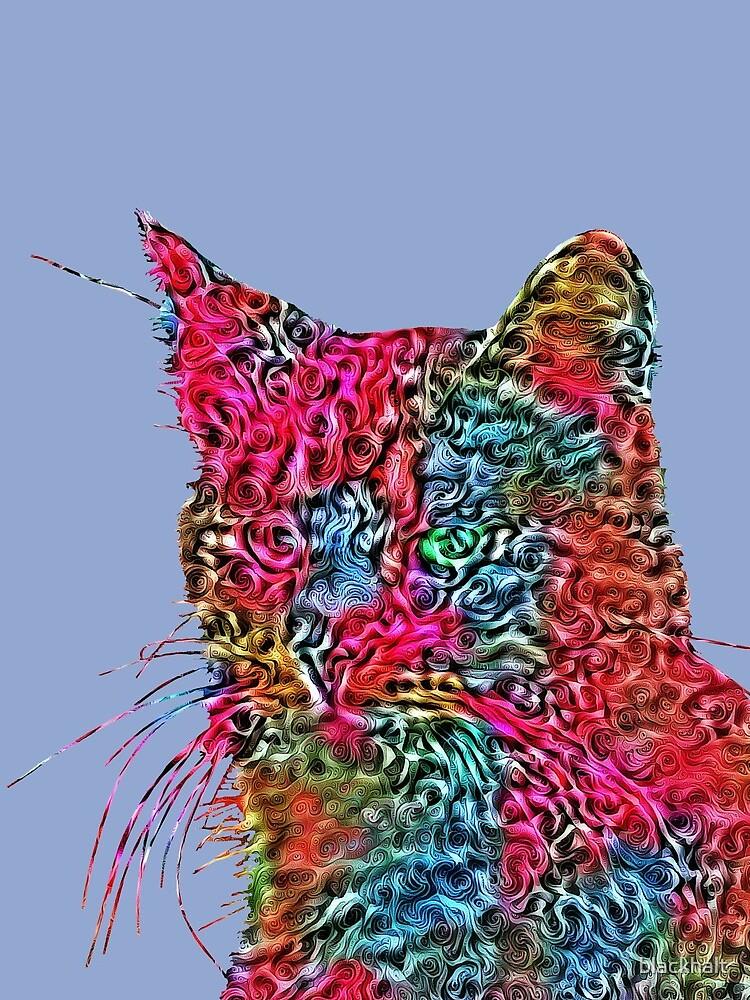Artificial neural style Rose wild cat by blackhalt
