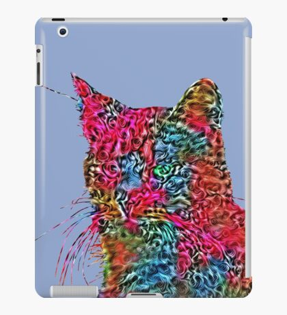 Artificial neural style Rose wild cat iPad Case/Skin