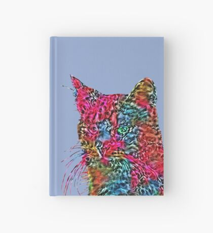 Artificial neural style Rose wild cat Hardcover Journal