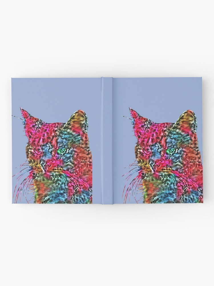 Alternate view of Artificial neural style Rose wild cat Hardcover Journal