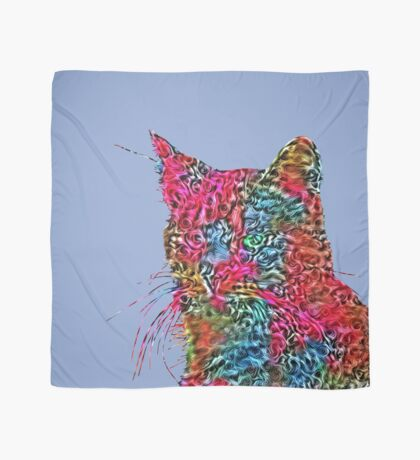 Artificial neural style Rose wild cat Scarf