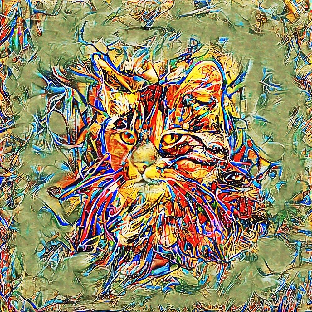 Ninja Cat. Deep Neural Networks #Art by blackhalt