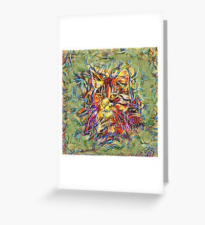 Ninja Cat. Deep Neural Networks #Art Greeting Card
