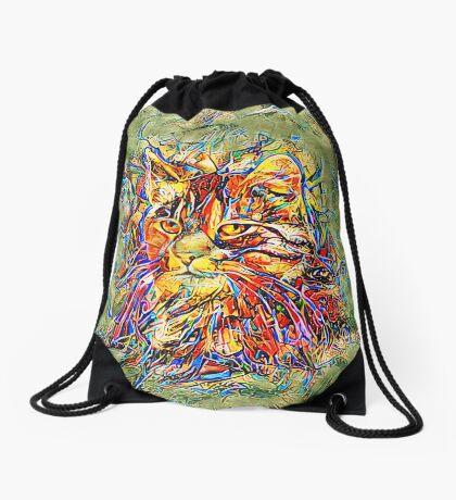 Ninja Cat. Deep Neural Networks #Art Drawstring Bag