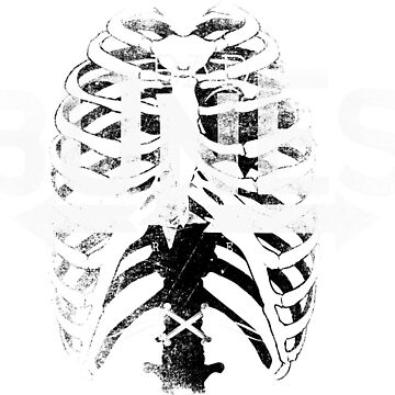 Bad Bones Design - Spinal Cord Skeleton Ribs Creepy by calikays