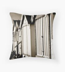 Beach hut moods Throw Pillow