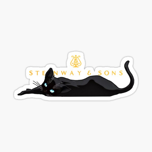 Piano Cat Sticker