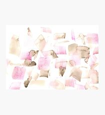 Violet Purple Brown Beige Abstract Watercolour  Photographic Print