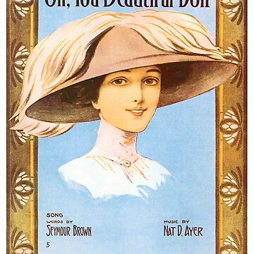 Vintage Sheet Music Songbook Cover Oh You Beautiful Doll 1911 by AllVintageArt