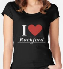 I Love  Rockford - Gift for Proud Illinoisan From  Rockford Illinois IL  Women's Fitted Scoop T-Shirt