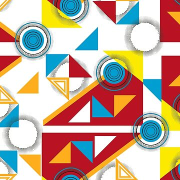 Geometric abstract pattern Bauhaus style. by TrishaMcmillan