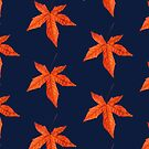 Sweet gum autumn leaf pattern by quentinjlang