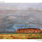Uluru - Watercolour by Paul Gilbert