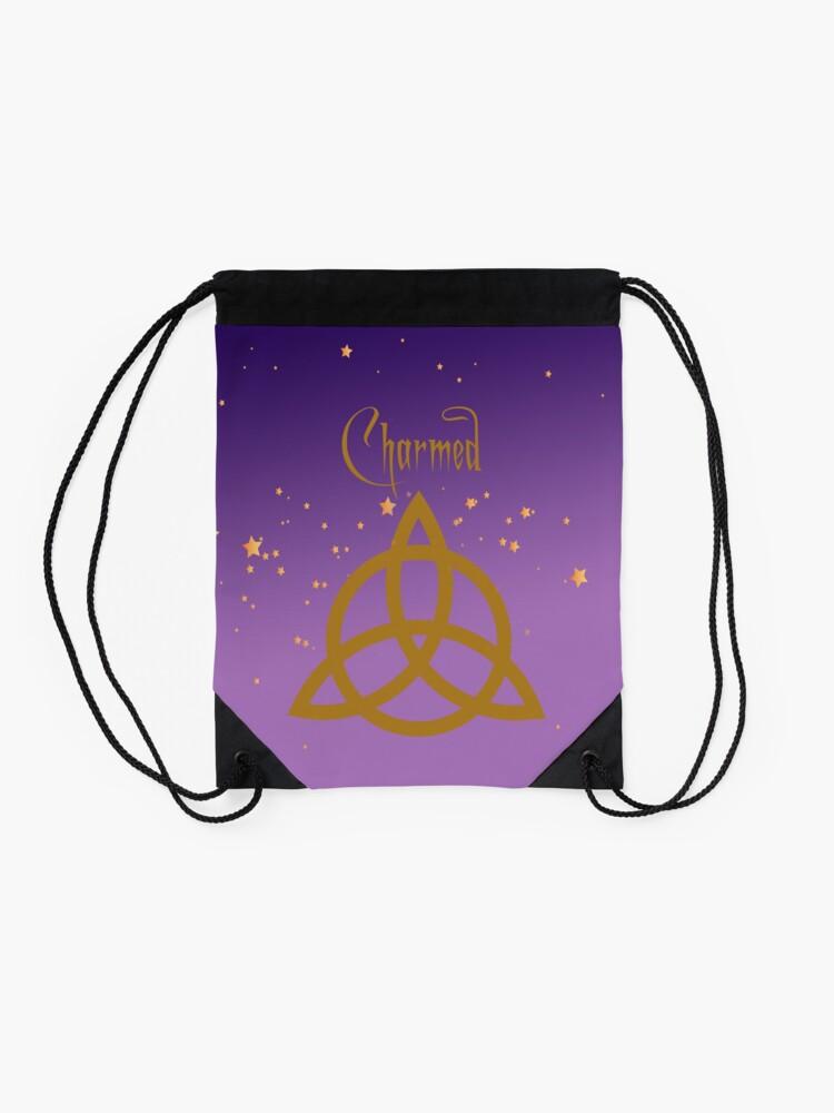 Alternate view of Purple Charmed Drawstring Bag