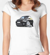 Ford Fiesta Zetec S (Mk6 - Facelift) Black Women's Fitted Scoop T-Shirt