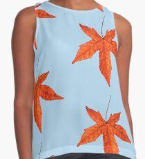Sweet gum autumn leaf pattern 2 Contrast Tank