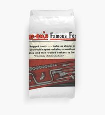 Every Mechanics Favourite Tools. Snap On Vintage Perfection.  Duvet Cover