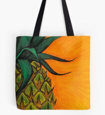 Pineapple oil painting by Bazil Zerinsky Tote Bag