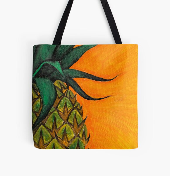 Pineapple oil painting by Bazil Zerinsky All Over Print Tote Bag