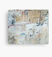 Acrylic painting abstract grey Canvas Print