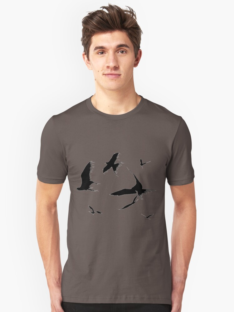 Alternate view of Frigate Birds - Ascending Slim Fit T-Shirt