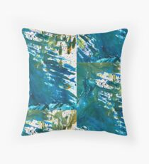 Turquoise and Green Spin Floor Pillow