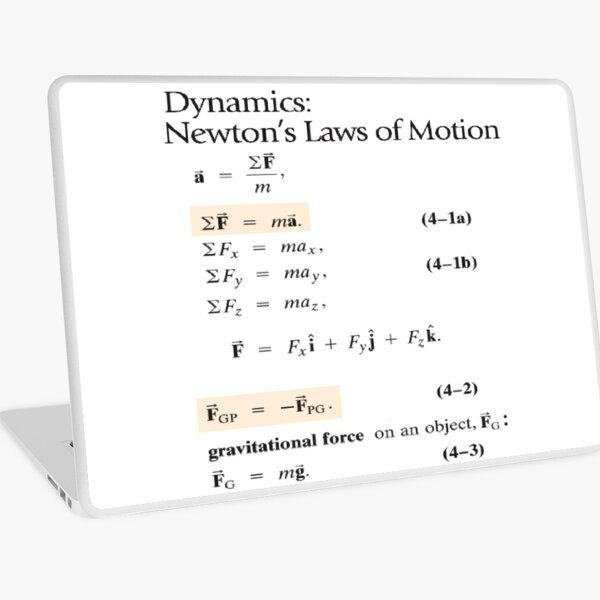 Physics Prints, Dynamics: Newton's Laws of Motion, #Dynamics, #Newton, #Laws, #Motion, #NewtonLaws, #NewtonsLaws, #Physics Laptop Skin