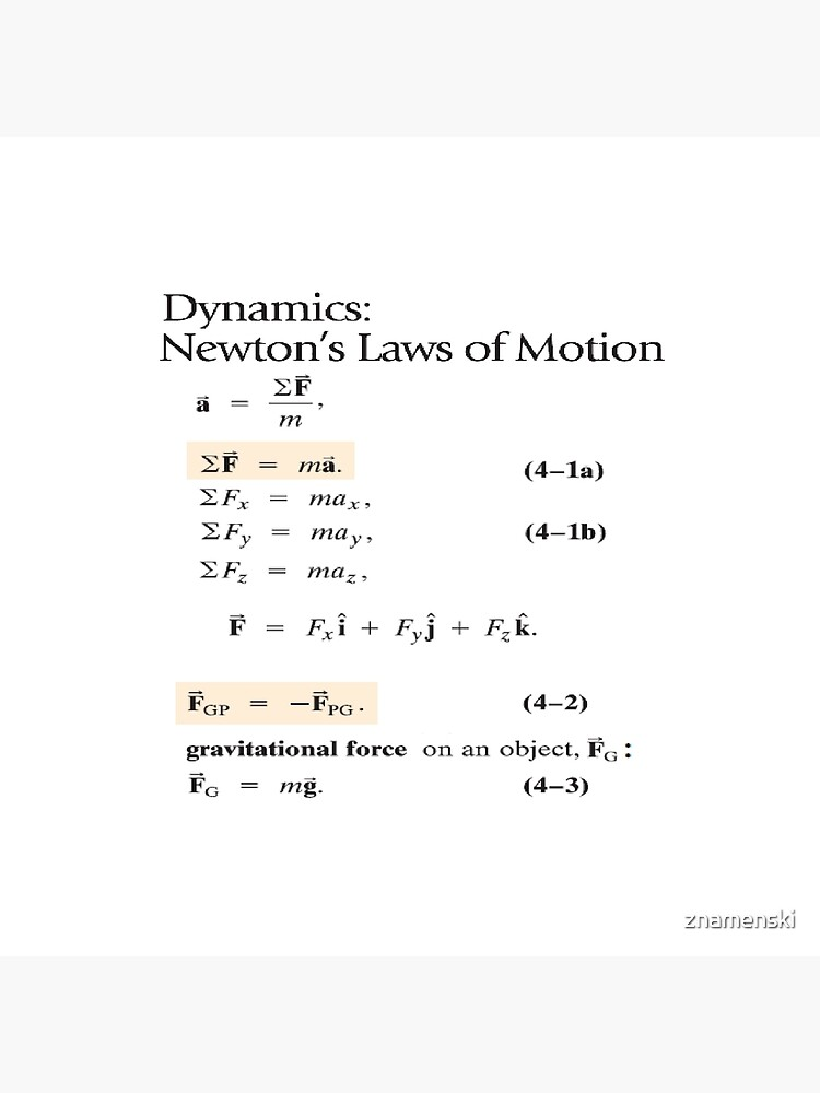Dynamics: Newton's Laws of Motion, #Dynamics, #Newton, #Laws, #Motion, #NewtonLaws, #NewtonsLaws, #Physics by znamenski