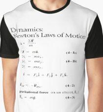 Dynamics: Newton's Laws of Motion, #Dynamics, #Newton, #Laws, #Motion, #NewtonLaws, #NewtonsLaws, #Physics Graphic T-Shirt