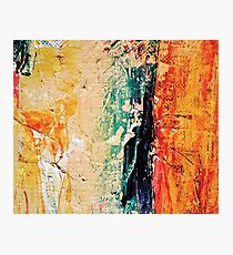 Abstract modern painting photography, Oil on Canvas Photographic Print