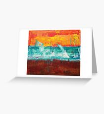 Earth Fire Water painting Greeting Card