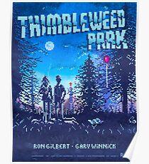 Thimbleweed Park Pixel Art Style Poster