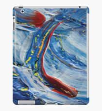 Red spot on blue abstract painting photography  iPad Case/Skin
