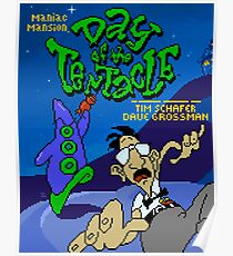 Day of the Tentacle Pixel Art Style Poster