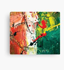 Flying red spots acrylic abstract painting Canvas Print