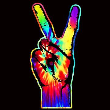 TIE-DYE PEACE FINGERS by stuph4kewlkidz