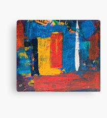 colorful square painting  Canvas Print