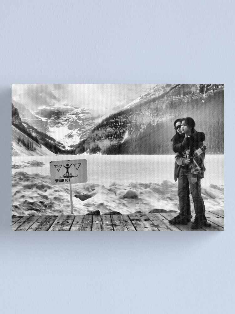Alternate view of Walking on thin ice Canvas Print