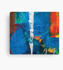 the white line, abstract acrylic painting Canvas Print