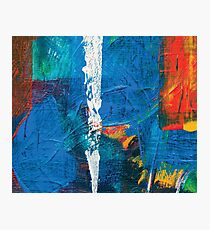 the white line, abstract acrylic painting Photographic Print