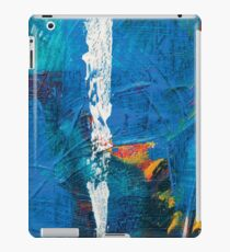 the white line, abstract acrylic painting iPad Case/Skin
