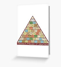 Pyramid of Greatness Poster Greeting Card